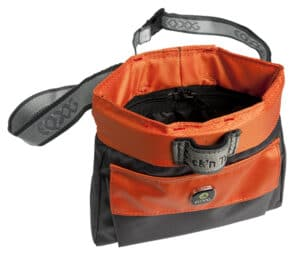 EQ Dog Click and Treat Bag Leckerlibeutel orange offen