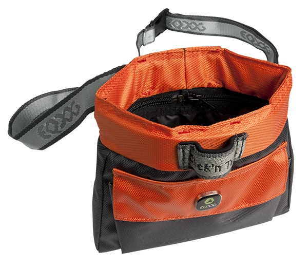 EQ Dog Click and Treat Bag Leckerlibeutel orange offen