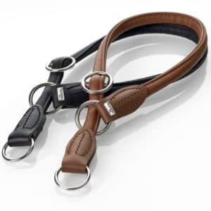 Hunter Round and Soft Lederhalsband braun und schwarz