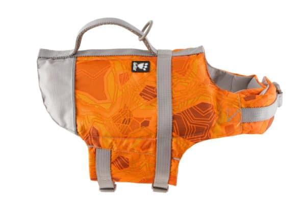 Hurtta Life Savior orange camouflage Schwimmweste für Hunde