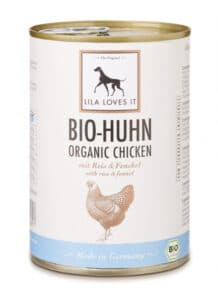 LILA LOVES IT Bio Huhn Nassfutter 400 g Dose