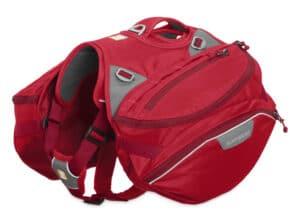 Ruffwear Palisades Pack Hunderucksack red currant