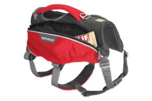 Ruffwear Webmaster Pro Harness red currant Tasche